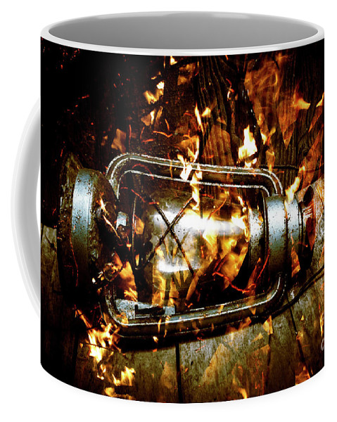 Lantern Coffee Mug featuring the photograph Fire In The Hen House by Jorgo Photography - Wall Art Gallery