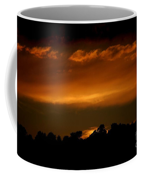 Digital Photo Coffee Mug featuring the photograph Fire In The Sky by David Lane