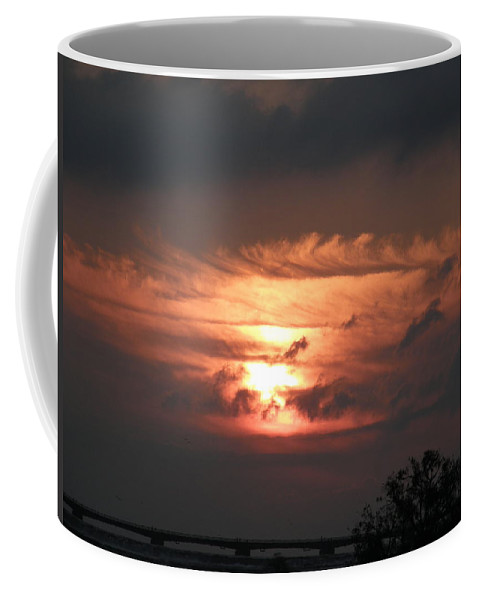 Sky Niagara Falls Morning Horizon Coffee Mug featuring the photograph Fire In The Sky by Dennis Burton