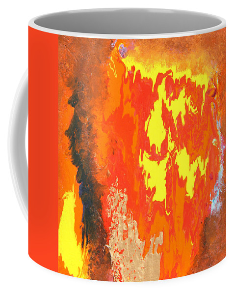 Fire Coffee Mug featuring the painting Fire by Ralph White