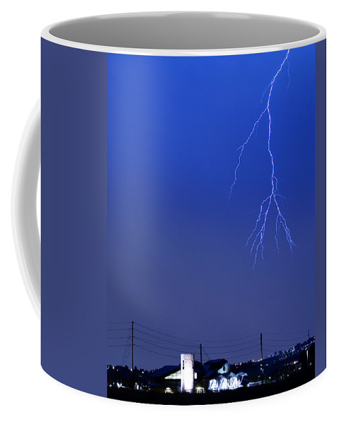 Boulder Coffee Mug featuring the photograph Fire Rescue Station 67 Lightning Thunderstorm 2c by James BO Insogna