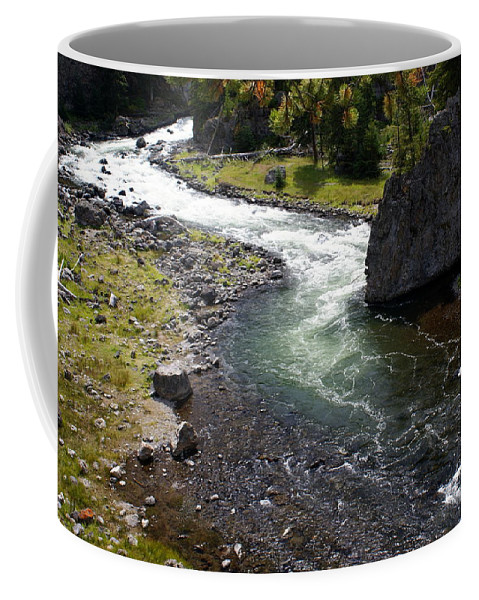 Yellowstone National Park. Firehole River Coffee Mug featuring the photograph Firehole Bend by Marty Koch