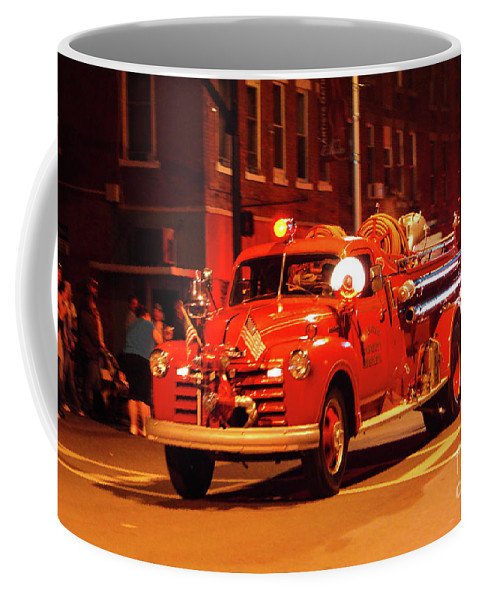 Fireman's Coffee Mug featuring the photograph Fireman's Parade No. 3 by Kevin Gladwell