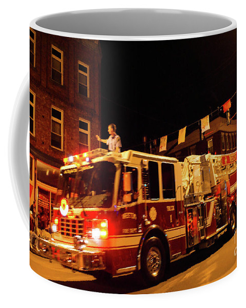 Forest Festival Coffee Mug featuring the photograph Fireman's Parade No. 4 by Kevin Gladwell