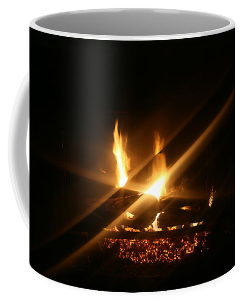Fireplace Coffee Mug featuring the photograph Fireplace by Ellen Henneke