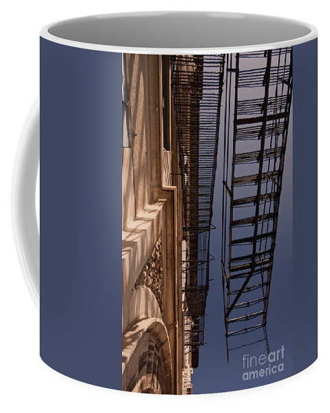 Firescape. Old Building Coffee Mug featuring the photograph Firescape by Sven Brogren
