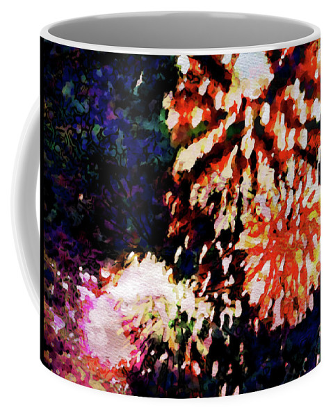 Fireworks Coffee Mug featuring the painting Fireworks 2 by Joan Reese
