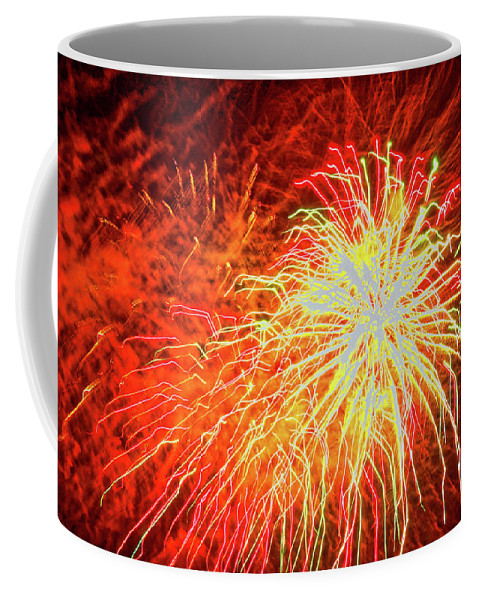 Closeup Fireworks Photo Coffee Mug featuring the photograph Fireworks 6 by Joan Reese