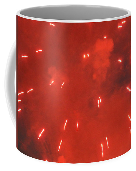 Fireworks Coffee Mug featuring the photograph Fireworks A Different Persoective One by Kenneth Summers