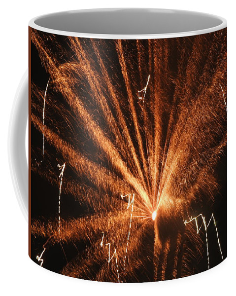 Fireworks Coffee Mug featuring the photograph Fireworks A Different Perspective Seven by Kenneth Summers