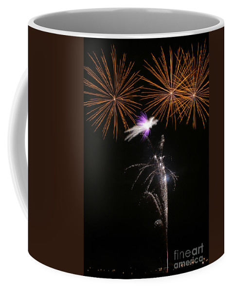 Fireworks Coffee Mug featuring the photograph Fireworks by Angel Ciesniarska