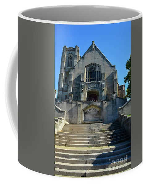 Lexington Coffee Mug featuring the photograph First Baptist Church by Bob Phillips