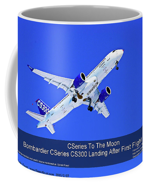 Aviation Coffee Mug featuring the photograph First Cseries Cs300 First Flight by Sylvain Faust