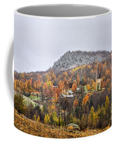 Fall Coffee Mug featuring the photograph First Dusting by Deborah Benoit