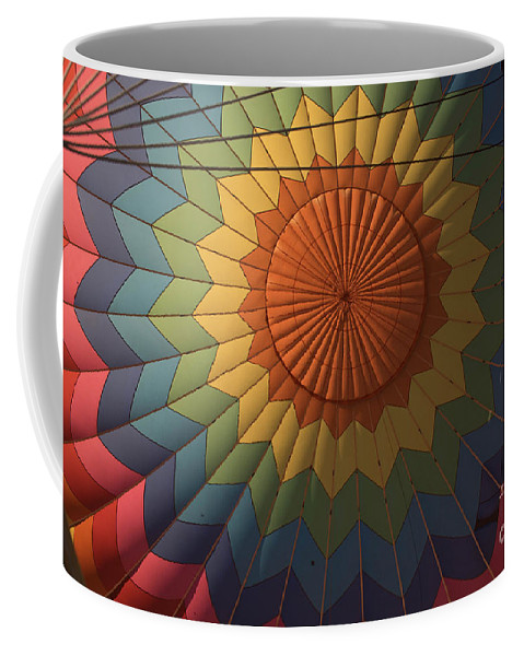 Yellow Coffee Mug featuring the photograph First Flight In Air by Ronald Grogan