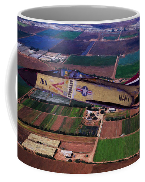 California Coffee Mug featuring the digital art First Flight Of Buno by Tommy Anderson