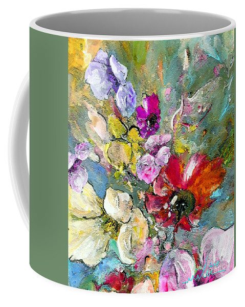 Nature Painting Coffee Mug featuring the painting First Flowers by Miki De Goodaboom