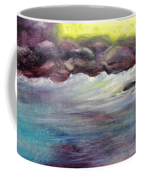 Coffee Mug featuring the painting First Light At Hulihee by Richard Rochkovsky