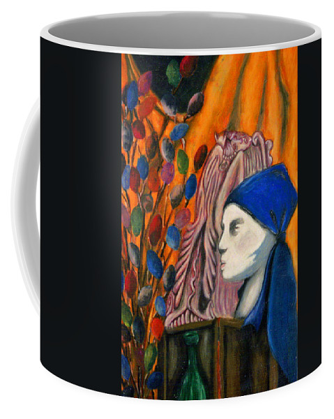 Mannequin Coffee Mug featuring the pastel First Oil Pastel by Jean Haynes