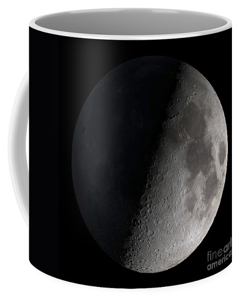 Mare Serenitatis Coffee Mug featuring the photograph First Quarter Moon by Stocktrek Images