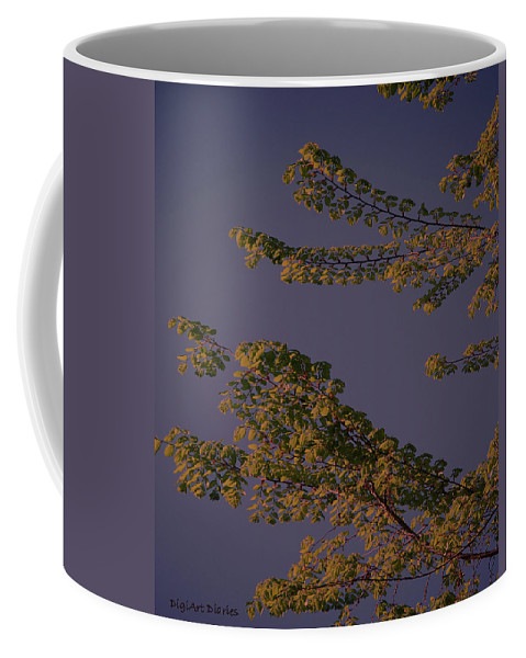 Tree Coffee Mug featuring the digital art First Signs Of Spring Vi by DigiArt Diaries by Vicky B Fuller