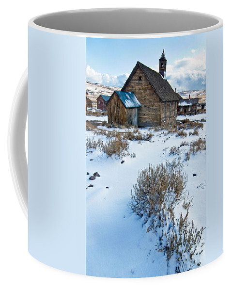 California Coffee Mug featuring the photograph First Snow Bodie by Norman Andrus