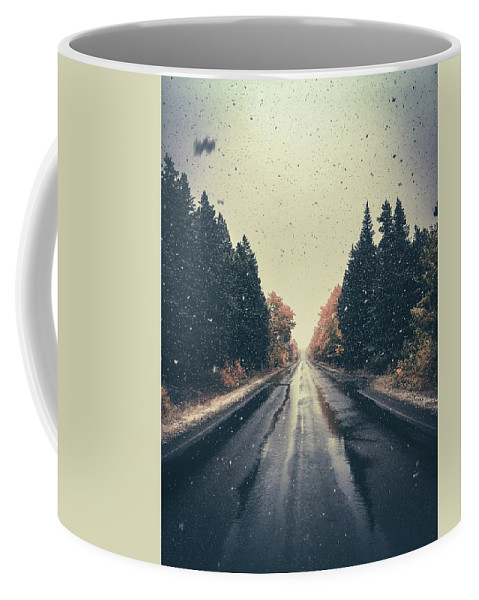 Snow Coffee Mug featuring the photograph First Snow Fall by Ethan Helferty