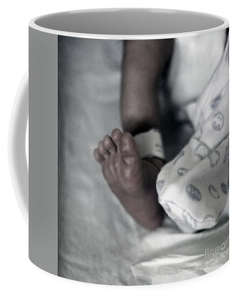 Baby Coffee Mug featuring the photograph First Step Into The Life by Angel Ciesniarska