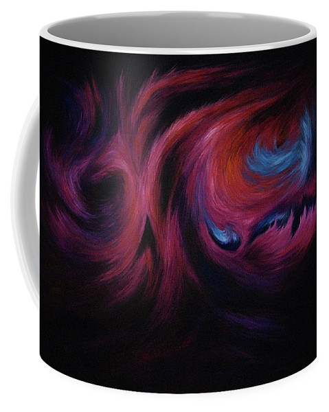 Abstract Coffee Mug featuring the painting First Transcendence by Rachel Christine Nowicki