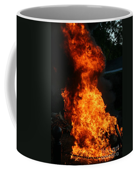 Fish Creek Coffee Mug featuring the photograph Fish Creek Fish Boil Wi by Tommy Anderson