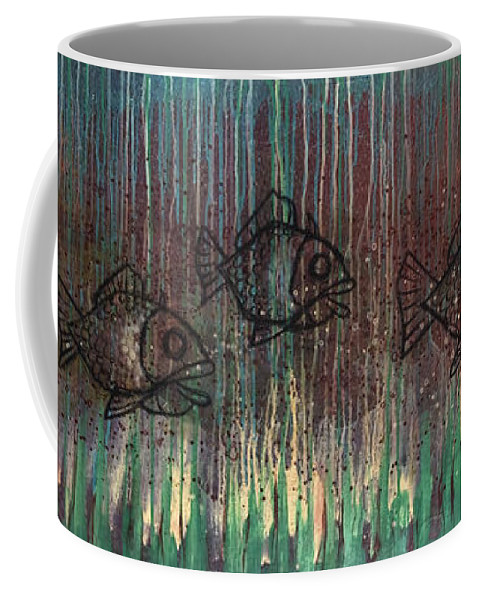 Fish Coffee Mug featuring the painting Fish by Kelly Jade King