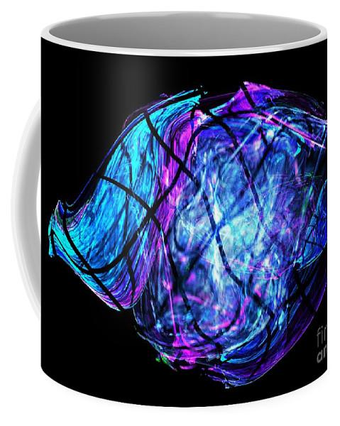 Apophysis Coffee Mug featuring the digital art Fish by Kim Sy Ok