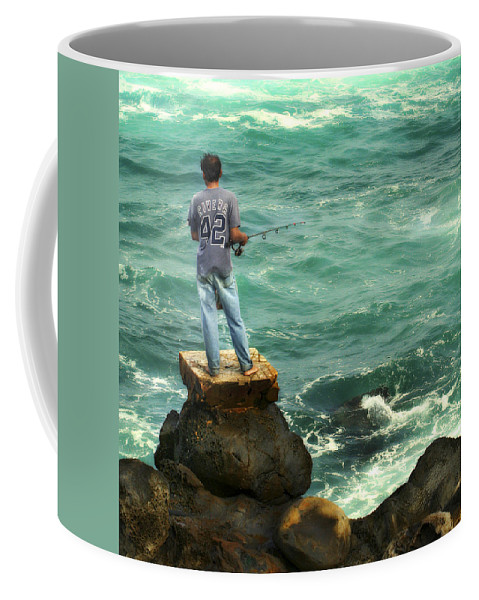Americana Coffee Mug featuring the photograph Fisherman by Marilyn Hunt