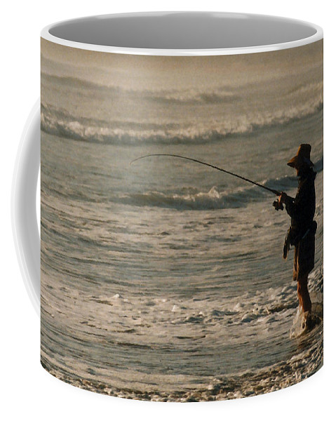 Fisherman Coffee Mug featuring the photograph Fisherman by Steve Karol