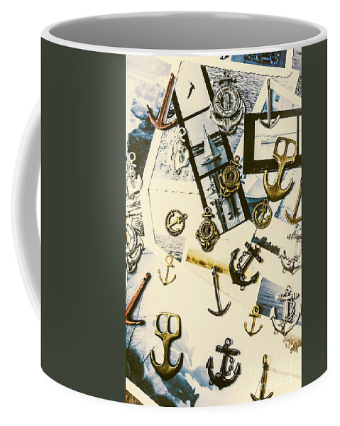 Anchor Coffee Mug featuring the photograph Fishermans Iconography by Jorgo Photography - Wall Art Gallery