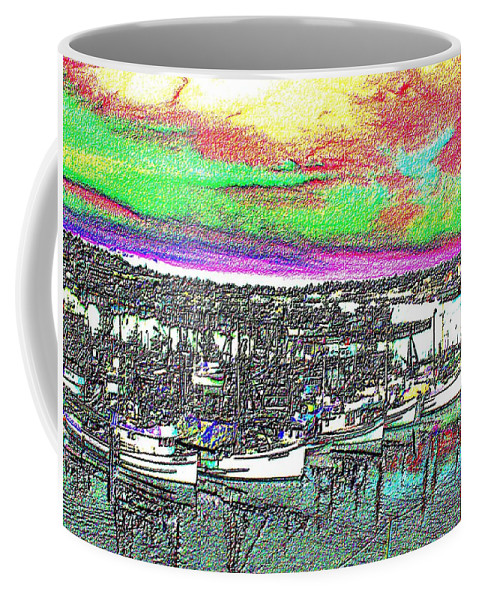Seattle Coffee Mug featuring the photograph Fishermans Terminal 2 by Tim Allen