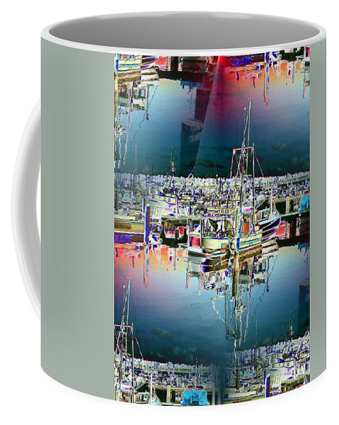 Seattle Coffee Mug featuring the photograph Fishermans Terminal 3 by Tim Allen