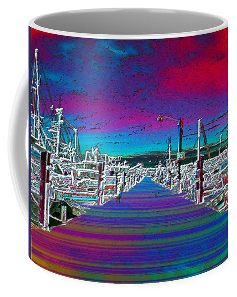 Seattle Coffee Mug featuring the photograph Fishermans Terminal Pier by Tim Allen