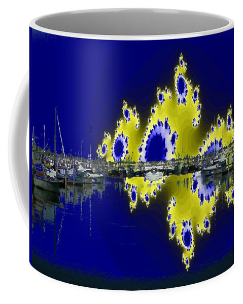 Seattle Coffee Mug featuring the digital art Fishermans Terminal by Tim Allen