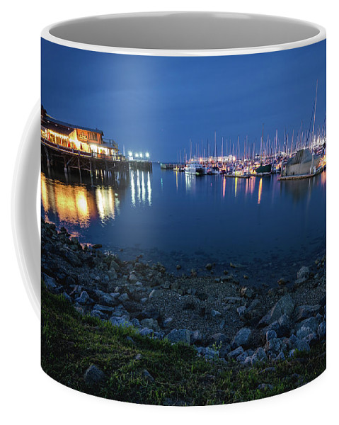 Landscape Coffee Mug featuring the photograph Fisherman's Wharf by Margaret Pitcher