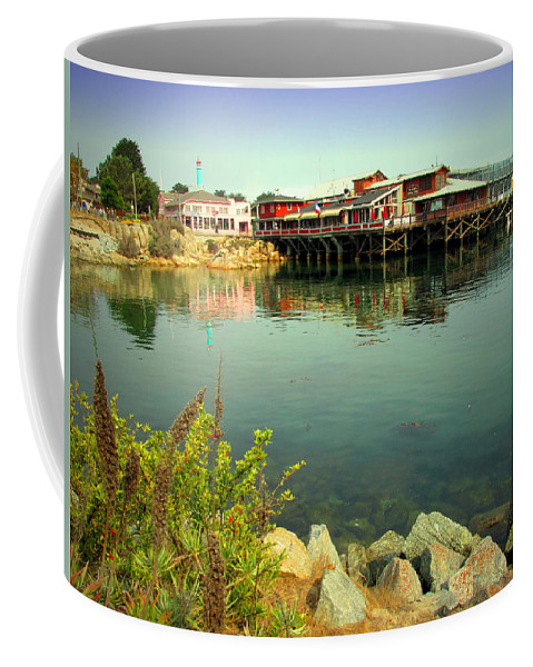 Wharf Coffee Mug featuring the photograph Fishermans Wharf Monterey Ca II by Joyce Dickens