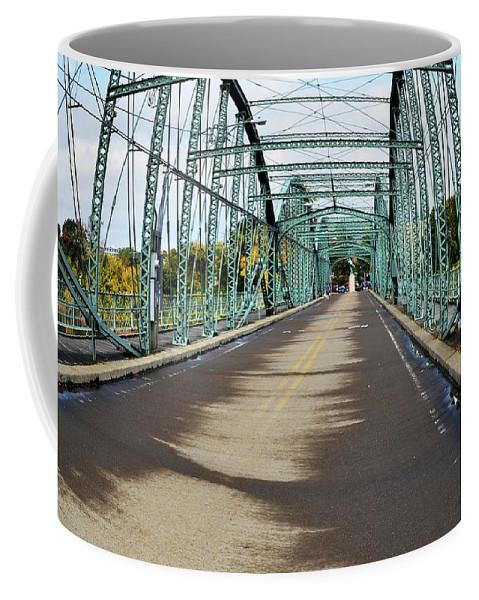Binghamton Coffee Mug featuring the photograph Fisheye South Washington St. Bridge by Christina Rollo