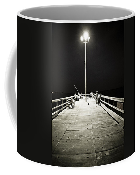 Americana Coffee Mug featuring the photograph Fishing At Night by Marilyn Hunt