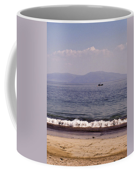Irish Coffee Mug featuring the photograph Fishing Boat On Ventry Harbor Ireland by Teresa Mucha
