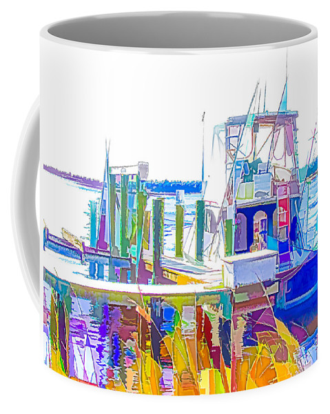 Fishing Boats Coffee Mug featuring the painting Fishing Boats 2 by Jeelan Clark