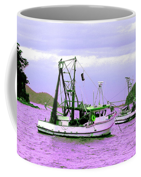 Australia Coffee Mug featuring the photograph Fishing Boats At Pearl Beach 1.0 by Giro Tavitian