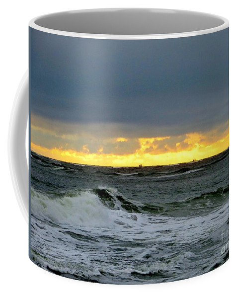 Fishing Boats Coffee Mug featuring the photograph Fishing Boats On The Horizon by Tim Townsend