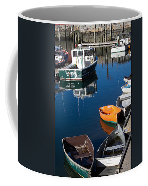 Rockport Ma Coffee Mug featuring the photograph Fishing Boats, Rockport, Ma by Nicole Freedman