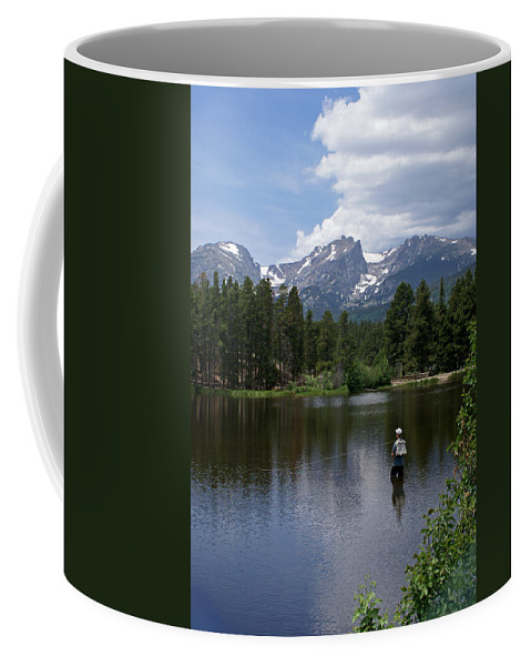 Fishing Coffee Mug featuring the photograph Fishing In Colorado by Heather Coen