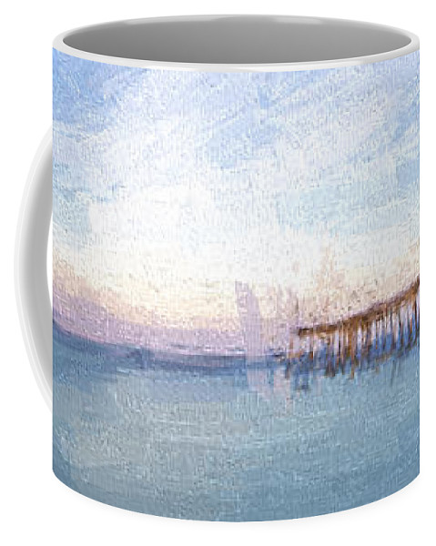 Art Coffee Mug featuring the digital art Fishing In Venice, Florida II by Jon Glaser